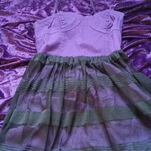 90s Purple and black party dress
